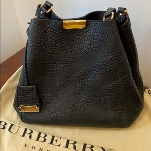 Burberry Embossed Black Canterbury Tote Authentic